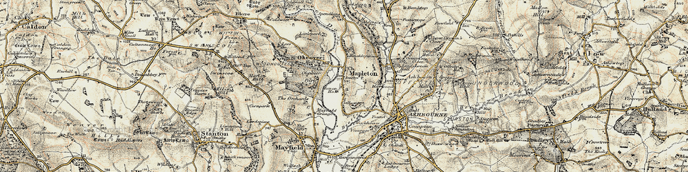 Old map of Mapleton in 1902