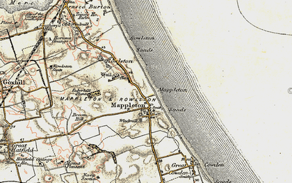 Old map of Mappleton in 1903-1908