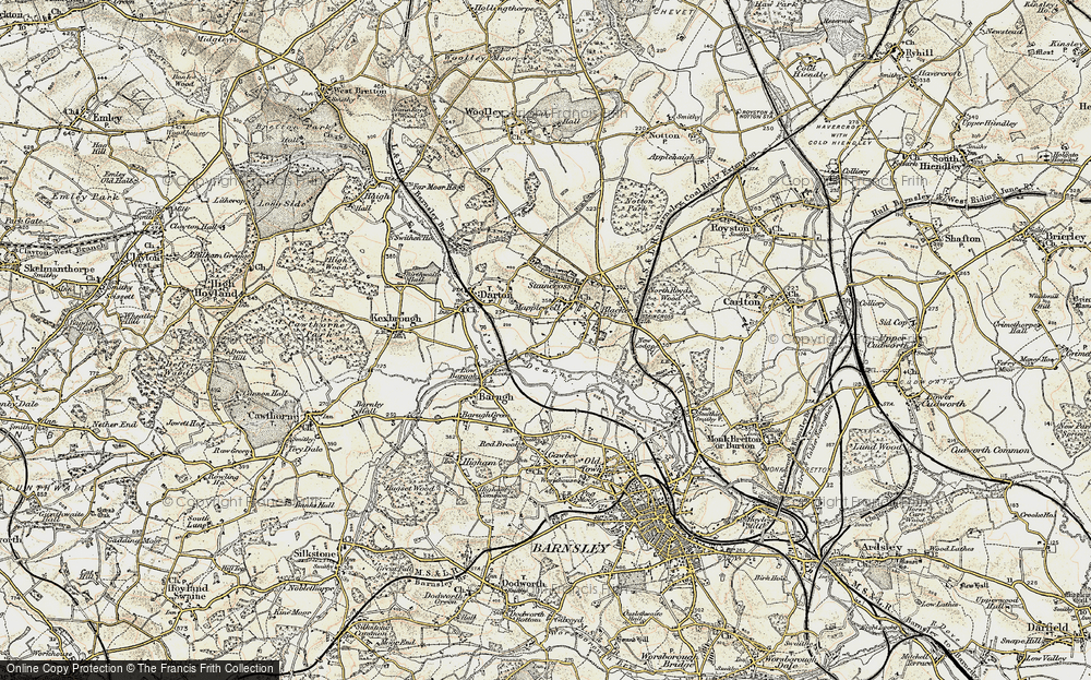 Old Map of Mapplewell, 1903 in 1903