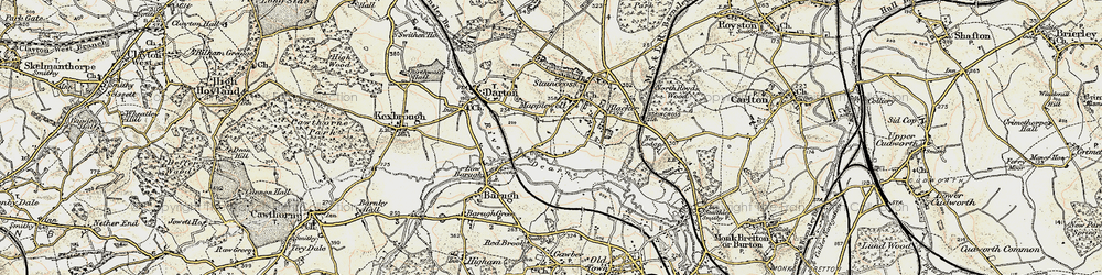 Old map of Mapplewell in 1903