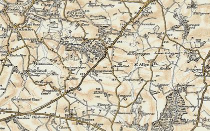 Old map of Marazanvose in 1900