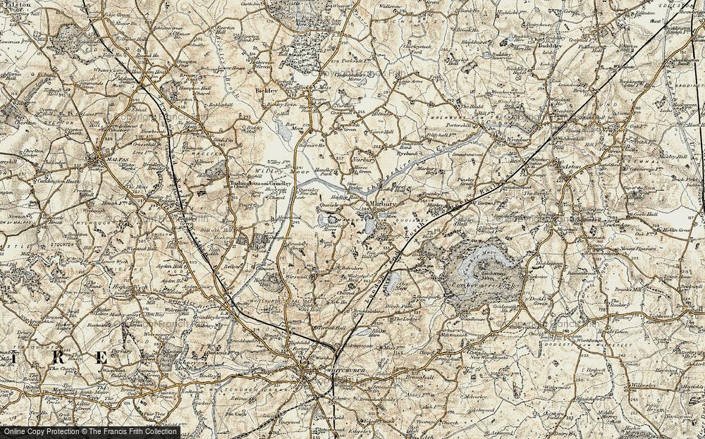 Old Map of Marbury, 1902 in 1902