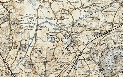Old map of Marbury in 1902