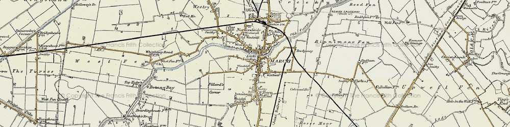 Old map of March in 1901-1902