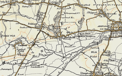 Old map of Abingdon Common in 1897-1899