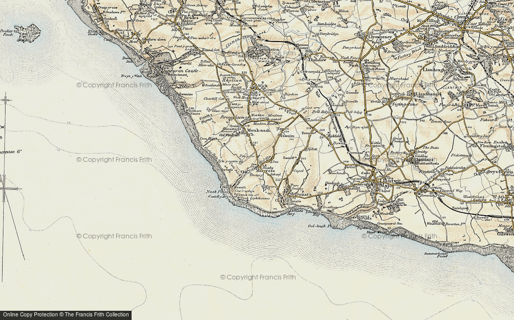 Old Map of Historic Map covering Lan-Farm in 1899-1900