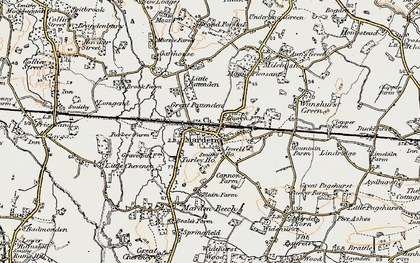 Old map of Marden in 1897-1898