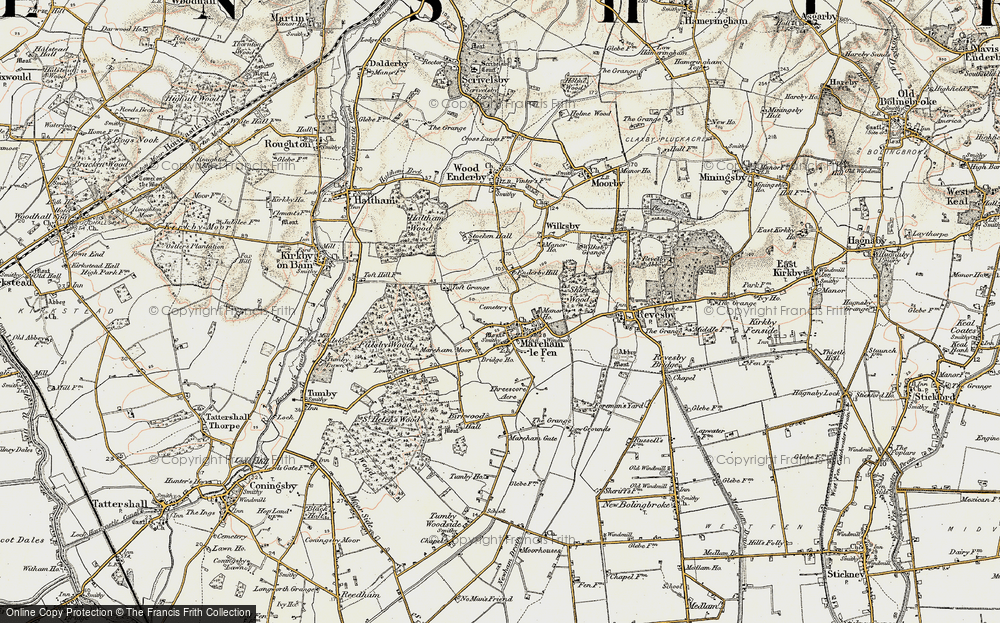 Old Map of Historic Map covering Toft Grange in 1902-1903