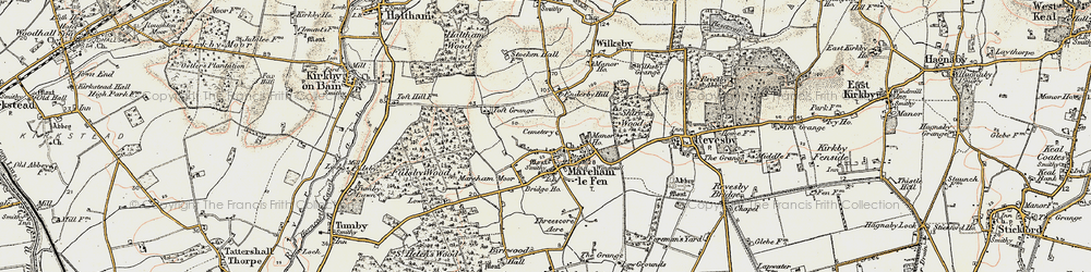 Old map of Mareham le Fen in 1902-1903