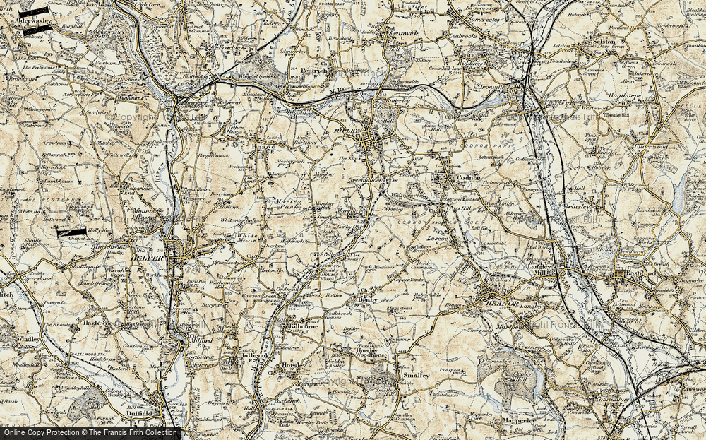 Old Map of Marehay, 1902 in 1902
