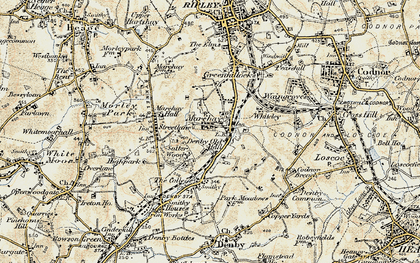 Old map of Marehay in 1902