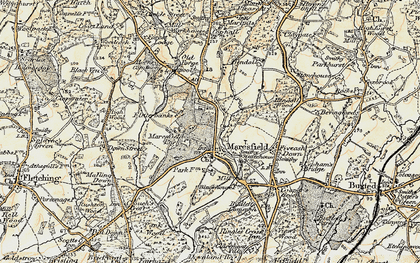 Old map of Maresfield in 1898
