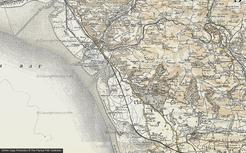 Old Map of Margam, 1900-1901 in 1900-1901