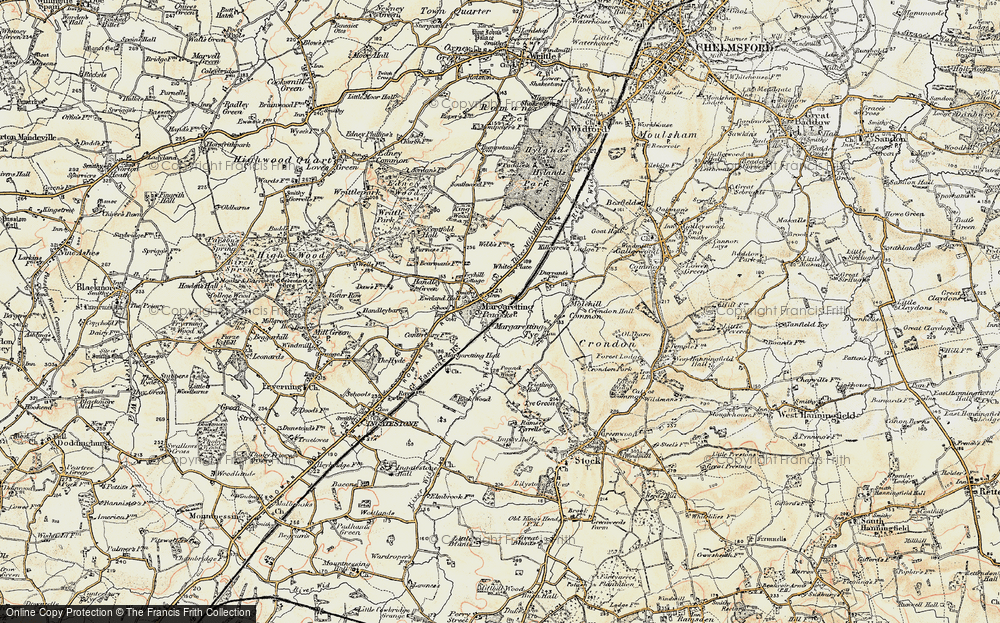 Old Map of Historic Map covering White's Place in 1898