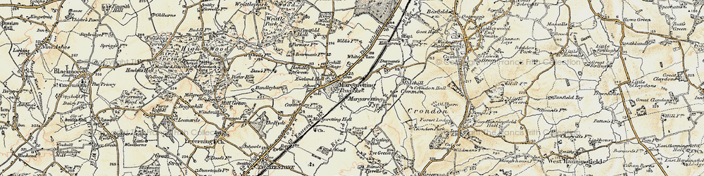 Old map of White's Place in 1898