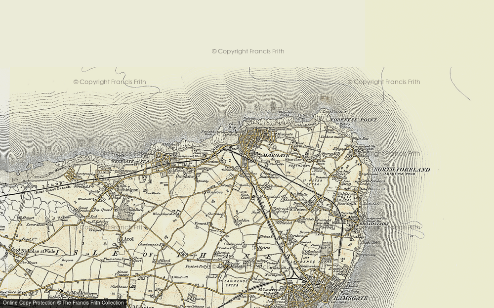 Old Map of Margate, 1898-1899 in 1898-1899
