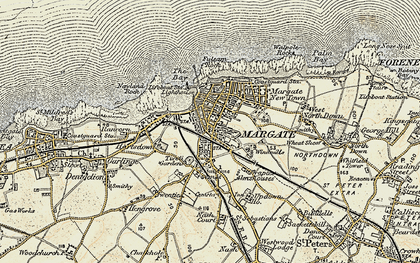 Old map of Margate in 1898-1899