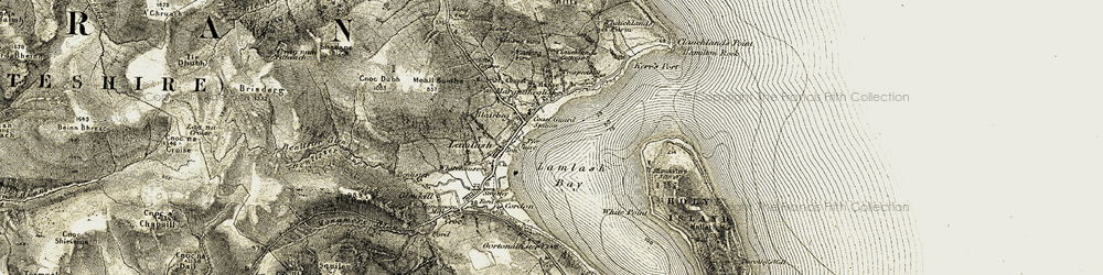 Old map of White Point in 1905-1906