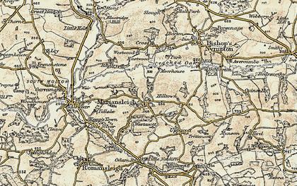 Old map of Tidlake in 1899-1900