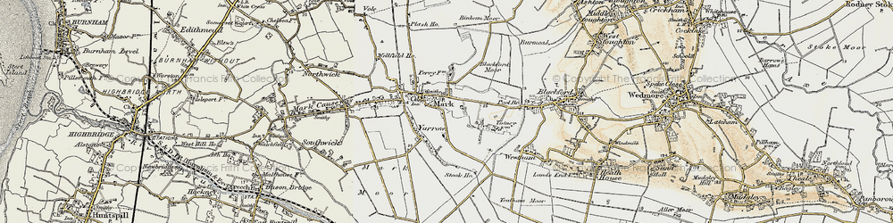Old map of Mark in 1899-1900