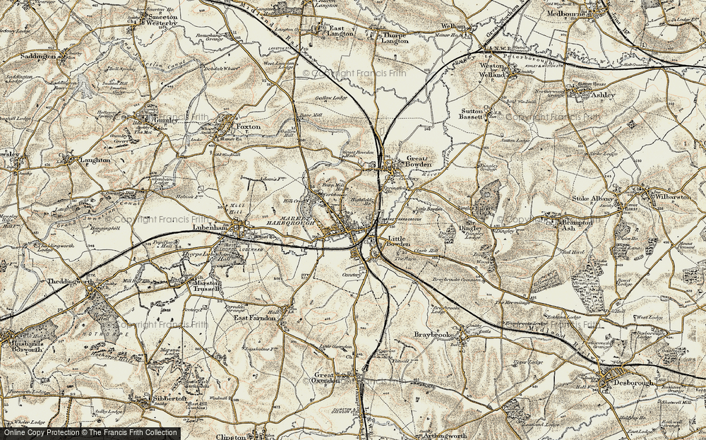 Old Map of Market Harborough, 1901-1902 in 1901-1902