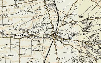 Old map of Market Rasen in 1903