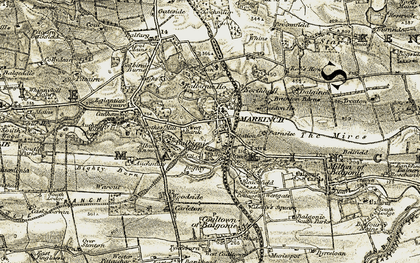 Old map of Balbirnie Ho in 1903-1908