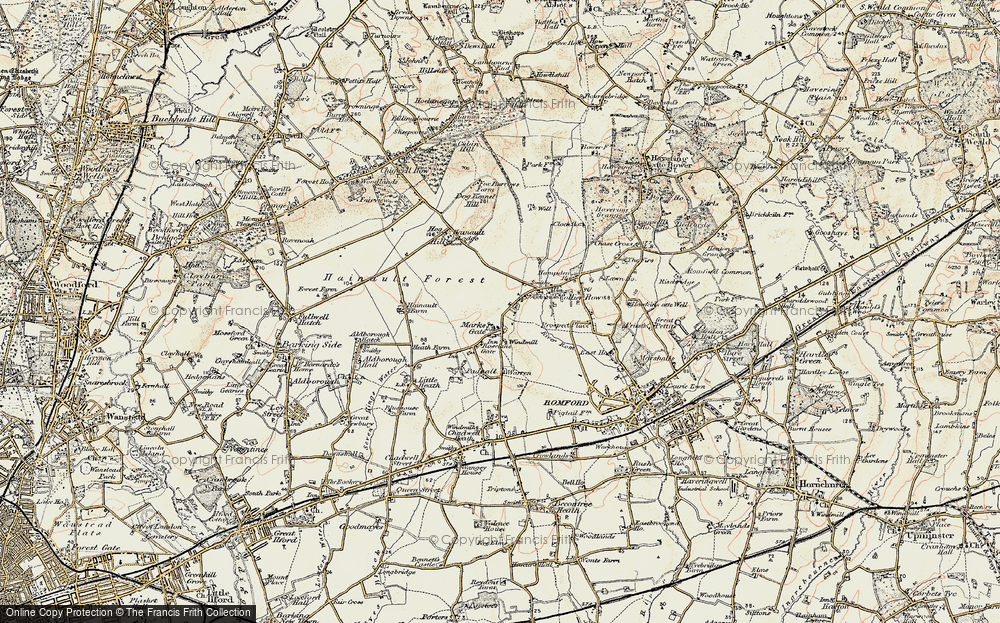 Old Map of Marks Gate, 1897-1898 in 1897-1898
