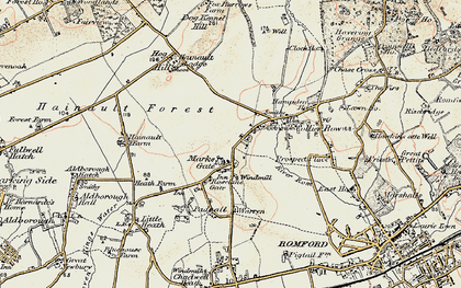 Old map of Marks Gate in 1897-1898