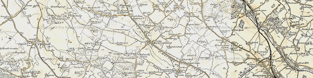 Old map of Markyate in 1898-1899