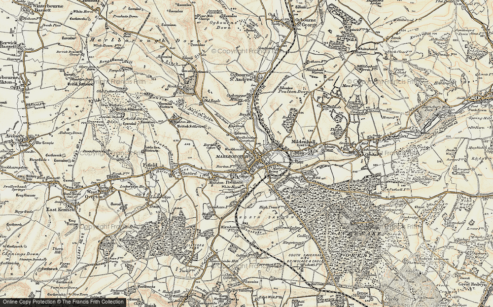 Old Map of Marlborough, 1897-1899 in 1897-1899
