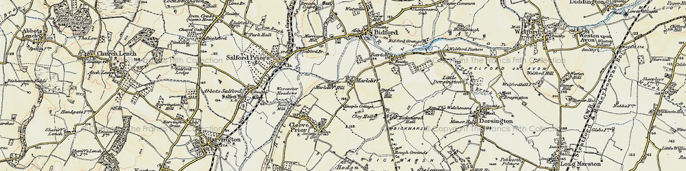 Old map of Marlcliff in 1899-1901