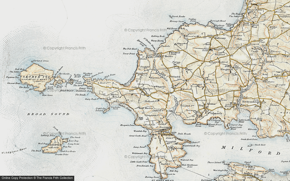Old Map of Historic Map covering Albion Sands in 0-1912