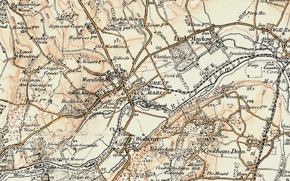 Old map of Marlow in 1897-1898
