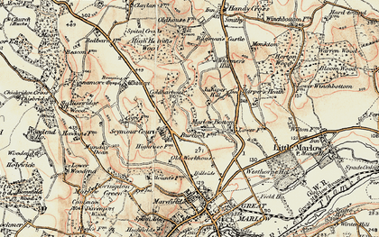 Old map of Marlow Bottom in 1897-1898