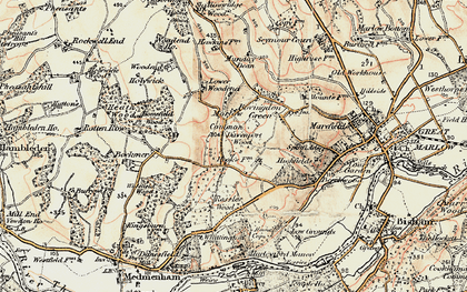 Old map of Marlow Common in 1897-1898