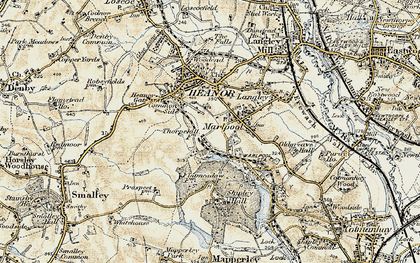 Old map of Marlpool in 1902-1903