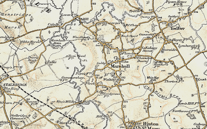 Old map of Marnhull in 1897-1909