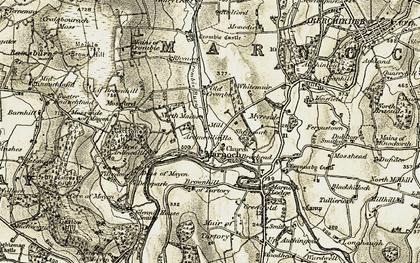 Old map of Ardmeallie Ho in 1910