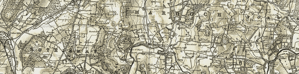 Old map of Whitemuir in 1910