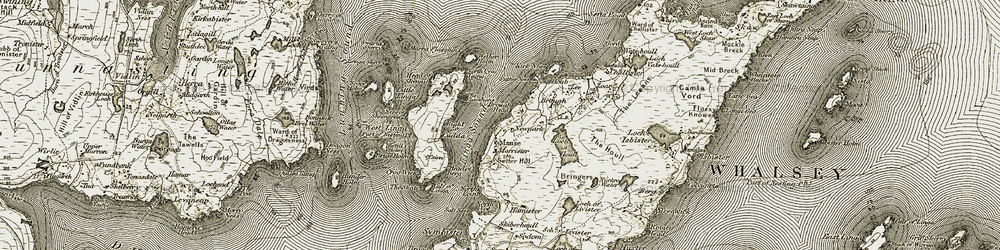 Old map of Linga Sound in 1912