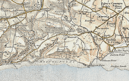 Old map of Marros in 1901