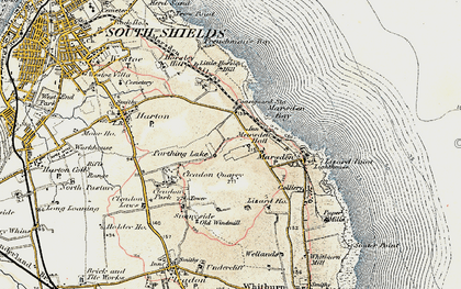 Old map of Marsden in 1901-1904