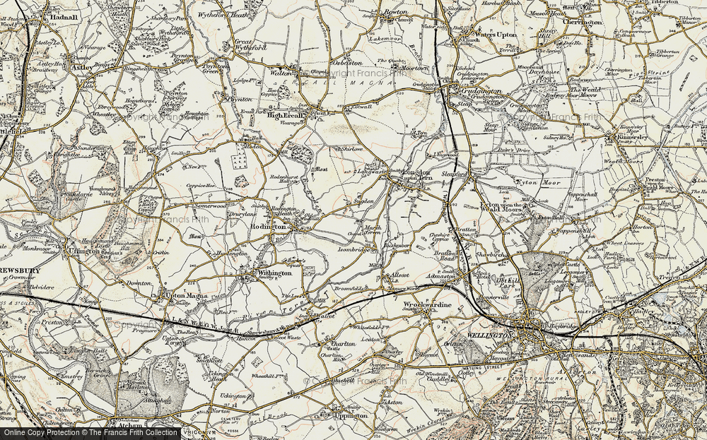 Old Map of Marsh Green, 1902 in 1902