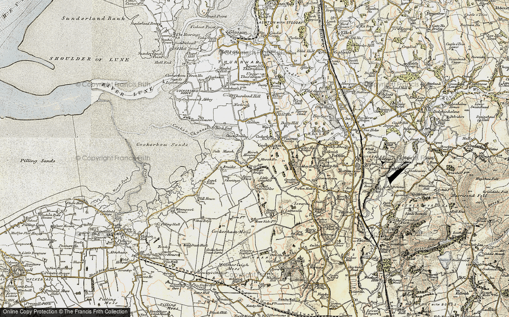 Old Map of Historic Map covering Lathwaite in 1903-1904