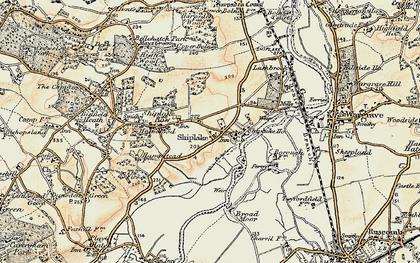 Old map of Marsh Lock in 1897-1909