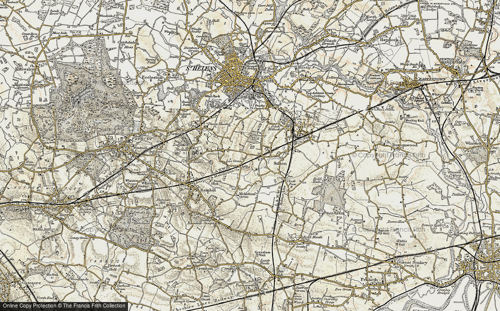Old Map of Historic Map covering Lea Green Sta in 1903