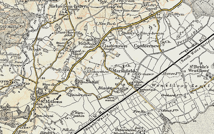 Old map of Marshfield in 1899-1900