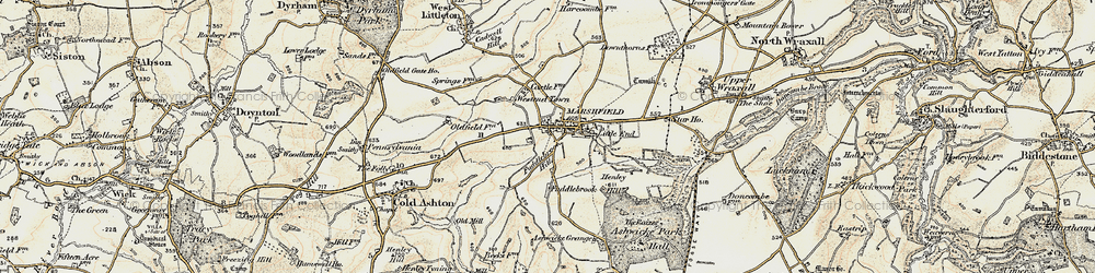 Old map of Marshfield in 1899