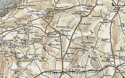 Old map of Marshgate in 1900